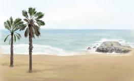 Cartel de la opinión de la playa Imagen de archivo libre de regalías