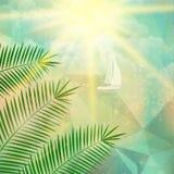 Cartel de la opinión de la playa Extracto geométrico Fotografía de archivo libre de regalías