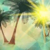 Cartel de la opinión de la playa Extracto geométrico Imagen de archivo libre de regalías