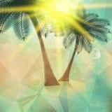 Cartel de la opinión de la playa Extracto geométrico Fotos de archivo libres de regalías