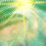 Cartel de la opinión de la playa Extracto geométrico Fotografía de archivo
