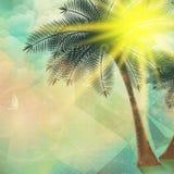 Cartel de la opinión de la playa Extracto geométrico Imagenes de archivo