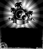 Cartel de la palma de la música del granero Fotos de archivo