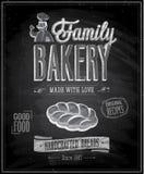 Cartel de la panadería del vintage Imagenes de archivo