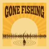 Cartel de la pesca Fotografía de archivo