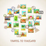 Cartel de la postal de Tailandia Imágenes de archivo libres de regalías