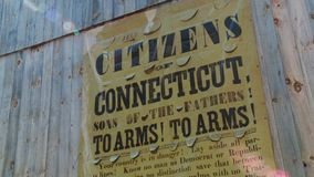 Cartel de la propaganda de Connecticut (2 de 2) almacen de video