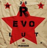 Cartel de la propaganda de la libertad de la revolución Imagen de archivo libre de regalías