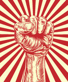 Cartel de la propaganda del puño de la revolución Foto de archivo libre de regalías