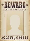 Cartel de la recompensa stock de ilustración