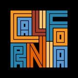 Cartel de la tipografía de California Diseño de la moda de la camiseta Imagen de archivo libre de regalías
