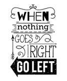 Cartel de la tipografía con los elementos dibujados mano Cita inspirada stock de ilustración