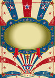 Cartel de la vendimia del circo Imagen de archivo libre de regalías