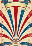 Cartel de la vendimia del circo Fotografía de archivo