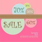 Cartel de la venta Imagen de archivo libre de regalías
