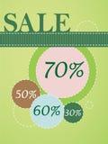 Cartel de la venta Fotografía de archivo libre de regalías