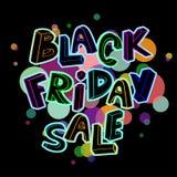 Cartel de la venta de Black Friday Foto de archivo
