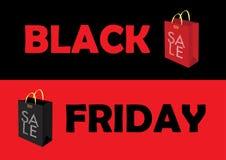 Cartel de la venta de Black Friday Foto de archivo libre de regalías