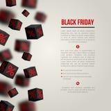 Cartel de la venta de Black Friday Ilustración del vector Imagenes de archivo