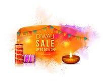 Cartel de la venta de Diwali, bandera o diseño del aviador