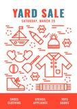 Cartel 4 de la venta de garaje Fotos de archivo libres de regalías