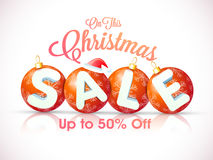 Cartel de la venta de la Navidad, bandera o diseño del aviador Fotos de archivo