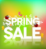 Cartel de la venta de la primavera Imagen de archivo