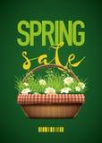 Cartel de la venta de la primavera Fotografía de archivo libre de regalías