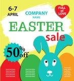 Cartel de la venta de Pascua Foto de archivo libre de regalías