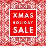 Cartel de la venta del día de fiesta de la Navidad ilustración del vector