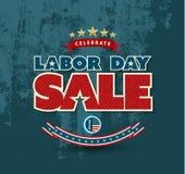 Cartel de la venta del Día del Trabajo Imagenes de archivo