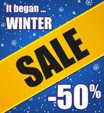 Cartel de la venta del invierno Imagenes de archivo