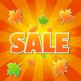 Cartel de la venta del otoño stock de ilustración