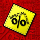 cartel de la venta del vector Fotos de archivo