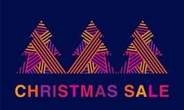 Cartel de la venta de la Navidad Foto de archivo