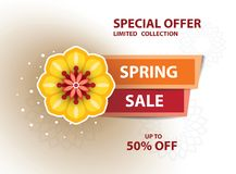 Cartel de la venta de la primavera fotografía de archivo