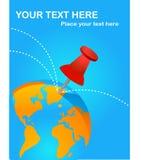 Cartel de las destinaciones del recorrido libre illustration