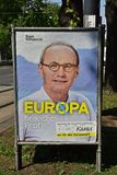 Cartel de las elecciones de Parlamentary del europeo foto de archivo libre de regalías