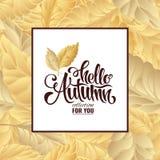 Cartel de las letras de la venta del otoño, descuento, tarjeta Fotos de archivo libres de regalías