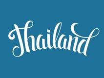 Cartel de las letras de Tailandia Fotos de archivo libres de regalías