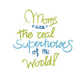 Cartel de las mamáes adentro Imagen de archivo
