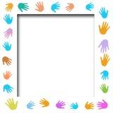 Cartel de las manos amigas Fotografía de archivo libre de regalías