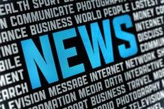 Cartel de las noticias Fotografía de archivo libre de regalías
