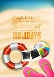 Cartel de las vacaciones de verano Imágenes de archivo libres de regalías