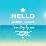 Cartel de las vacaciones de verano Fotografía de archivo