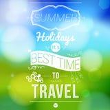 Cartel de las vacaciones de verano con efecto borroso. Imagen de archivo libre de regalías