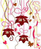 Cartel de las ventas Imagen de archivo