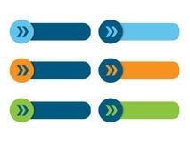 Cartel de los botones en blanco del web con las flechas libre illustration