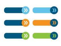Cartel de los botones en blanco del web con las flechas ilustración del vector