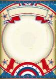Cartel de los E.E.U.U. Imagen de archivo libre de regalías